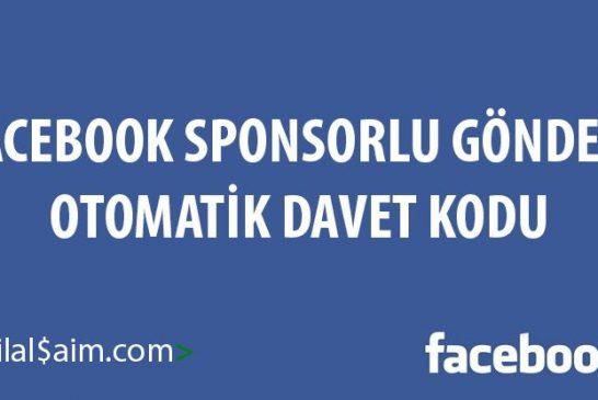 Facebook Sponsorlu Gönderi Davet Etme Kodu