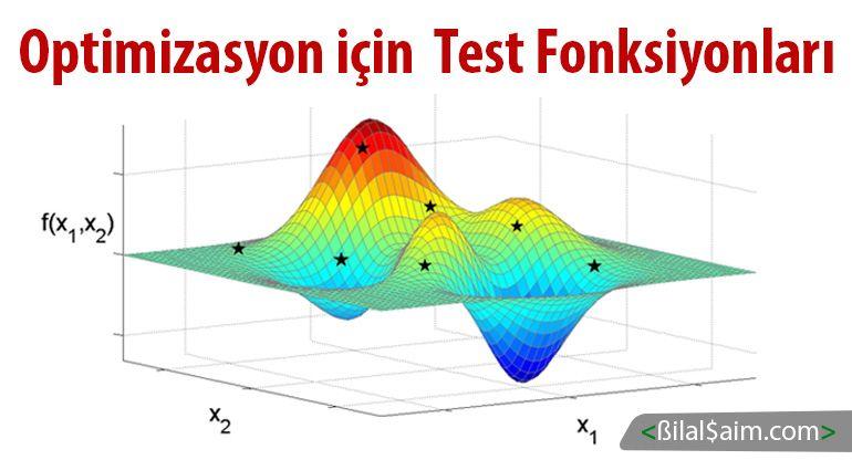 Optimizasyon için Test Fonksiyonları